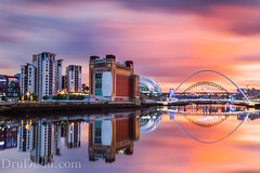 City Sunset (Dru Dodd) Tags: longexposure sunset composite reflections river cityscape baltic tyne gateshead quayside rivertyne newcastlequayside newcastlegateshead balticflourmill leefilters canon5dmkiii 5d3