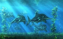 Ichthyosaurs (deskridge) Tags: ocean blue sea fish animal fishing fisherman dinosaur reptile scuba aquatic creature prehistoric undersea jurassic extinct ichthyosaur primeval eskridge paleoart ichthyosaurus stenopterygius danieleskridge