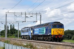 57008 90002 aa Wilsons Crossing 190814 D Wetherall (MrDeltic15) Tags: drs class90 wcml class57 57008 90002 wilsonscrossing greateranglia