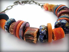 New Work (DebbieCrothers) Tags: colour texture necklace beads ancient arty handmade polymerclay earthy organic coloured artisan polymer