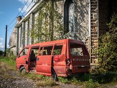 For sale (San-Ti-Ago) Tags: abandoned car rust decay urbanexploration van mitsubishi urbex