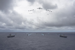 Joint formation (Official U.S. Air Force) Tags: ocean pacific aircraft navy airforce marinecorps carrier jointexercise ussgeorgewashington
