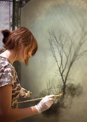 "PhotoFunia Creation:  ""Painting a tree"""