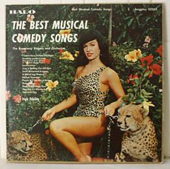 Betty Page LP Cover (Halo 1957) (Donald Deveau) Tags: lp record bettypage bestmusicalcomedysongs