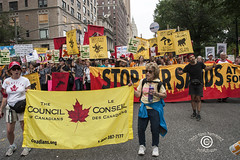 ClimateMarchSM20140921_290 (DawnOne) Tags: new york city nyc trees copyright toronto toxic against birds bread dawn march vermont theatre puppet photos killing cut bees protest butterflies down canadian peoples linda oil council change waste sands dying habitat ponds canadians gmo hammond forests bitumen climate protesters drowning tar migrating drilling pesticides tailing dawnone indyfoto fracking 350org