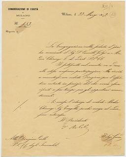 Nomina a Direttore medico della Pia casa, 23 marzo 1872
