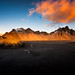 Red Sky At Dawn (Marshall Ward) Tags: vestrahorn mountains blacksand beach iceland southcoast 2017 winter sunrise dawn marshallward nikond810 afsnikkor1424mmf28ged roadtrip landscape seascape