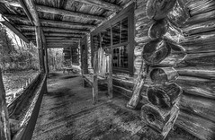 the porch (petec1113) Tags: blackwhite contrast wisconsin northwoods sonya7 porch cabin