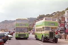 502/702 (CDL 899) & 681 (FDL 681V) - Shanklin Esplanade (GreenHoover) Tags: southernvectis iow isleofwight bus bristolk cdl899 theoldgirl shanklin shanklinesplanade bristolvr 681 fdl681v thevillagebuscompany service44 opentopbus opentop