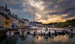 Le Palais -Belle île- (Explore 02/03/17) (f.ray35) Tags: belleîle en mer sunset le palais clouds port boat contrast canon 700d sigma1750