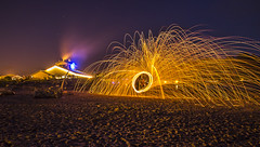 Spinning Fire (allentimothy1947) Tags: oregon sitkacenterforarts nightphotographyclass lincoln city lightpainting steel wool fire beach darlene hildebrandt night photography workshop