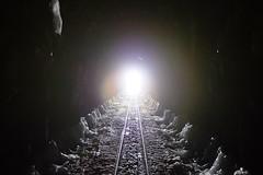 Iced Out (foxxyz) Tags: railroad ice alaska train ak tunnel yukon rails la2ak
