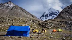 Наш лагерь рядом с горой Кайлас в Тибете