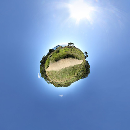 Cathedral Cove Walk - little planet