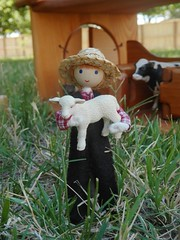 farmer doll 1 (wildflowertoys) Tags: woodentoys dollhousedolls toybarn bendydoll naturaltoys waldorftoys elvesandangels dollhousefamily toystable wildflowerinnocence