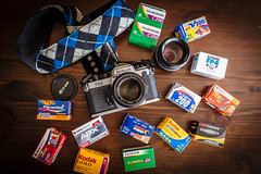 Analog Love (gambajo) Tags: camera old film analog project nikon fuji strap fujifilm cameraporn nikonfe2 fe2 phonar fujix100s fujifilmx100s phonarnation