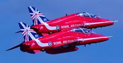 Red Arrows (David Gibson Photos) Tags: show red aircraft military air airshow arrows canberra hunter midair vulcan f18 raf avro squadron waddington tucano xh558