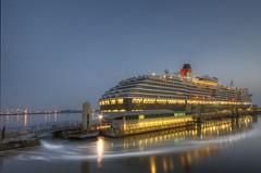 Queen Victoria in Liverpool (Explored 15/06/14) (Jeffpmcdonald) Tags: uk liverpool cruiseship cunard queenvictoria rivermersey liverpoolcruiselinerterminal nikond7000 jeffpmcdonald june2014