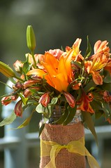 DSC06714 (jenya0902) Tags: park blue trees wedding decorations red roses summer orange blur flower green colors leaves yellow garden table happy photography spring flora bright random unique awesome jar lillies bouquet moment capture occasion photooftheday centerpieces
