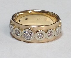 Bezel set Diamond band ring