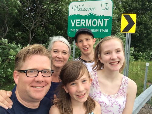 The Fryer Family about to enter Vermont by Wesley Fryer, on Flickr