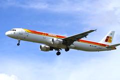 Iberia Airways (cjf3) Tags: heathrow landing airbus iberia a321 runway27r