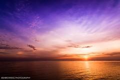 Twilight of the dream (ShiroWengPhotography) Tags: blue light sunset shadow sea orange reflection water dark twilight warm malaysia selangor 2014