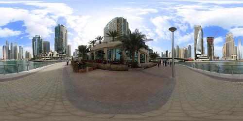 Dubai Marina Promenade - Panorama