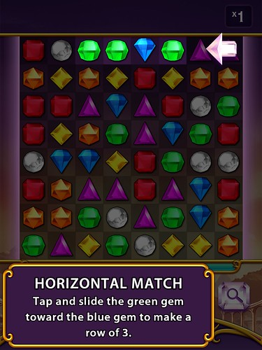 Bejeweled Blitz Tutorial: screenshots, UI