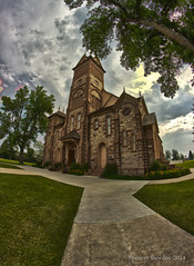 Paris Tabernacle (Spencer Bawden Photography) Tags: usa paris west church saint stone america cathedral scenic structure historic idaho route rockymountains mormon spencer pioneer lds stainglass hdr tabernacle bearlake bawden spazoto spencerbawden bypassutah
