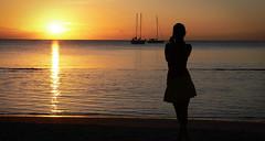 The End Of A Day... (TablinumCarlson) Tags: ocean africa leica sunset 2 sun girl backlight de island boot boat photo sailing ship photographer sonnenuntergang maurice indian rivière mauritius sonne république schiff segelschiff dlux gegenlicht noire ozean indischer