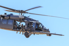 """Sikorsky HH-60G Pave Hawk of the 55th Rescue Squadron """"Night Hawks"""" from Davis-Monthan AFB (Norman Graf) Tags: night aircraft airshow helicopter blackhawk usaf hawks nighthawks sikorsky pavehawk unitedstatesairforce rotorcraft davismonthanafb h60 hh60g rotarywingaircraft 55threscuesquadron 55rqs 2014thunderlightningoverarizona"""