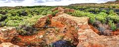 the kilns at Waldo (JoelDeluxe) Tags: railroad brick clouds high ruins rocks skies desert kilns hills nm coal shrub joeldeluxe waldo hdr cerrillos cinders route14 santafecounty