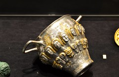 Silver-gilt scyphus, 2nd half of 4th cent. BCE, Sofia Archeological Museum (Prof. Mortel) Tags: sofia bulgaria archeologymuseum scyphus