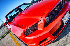 2014 Ford Mustang (Chad Horwedel) Tags: red ford car illinois convertible mustang fordmustang downersgrove cozzicorner 2014fordmustang