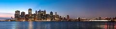 Downtown Manhattan with Brooklyn Bridge (dansshots) Tags: nyc newyorkcity panorama brooklynbridge d3 downtownnyc nycpanorama nikond3 dansshots