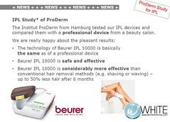 งานวิจัยการใช้งานเครื่องกำจัดขนถาวร IPL Beurer จากสถาบัน ProDerm เยอรมัน