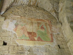 7] Andora (SV), castello: Porta-torre, affresco  +❸ (mpvicenza) Tags: italia liguria castello andorra sv skd savona vfa
