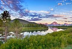Early Morning at OxBow Bend, Grand Teton National Park (lhg_11, 2million views. Thank you!) Tags: sky mountains reflection clouds landscape nikon earlymorning scenic wyoming nationalparks grandtetonnationalpark landscapephotography 100comments d7100