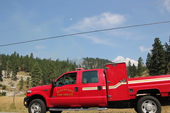 Peachland Forest Fire (bcfiretrucks) Tags: canada water forest fire woods smoke air police columbia brush helicopter british rcmp bomber department tanker wildland peachland