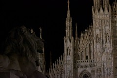 leaving town (Stefano) Tags: summer italy milan night italia estate milano lion duomo leone notte 2014