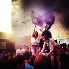 Might Get Weird Party at Sugarhill Supperclub - Bedford Stuyvesant, Brooklyn NYC (ChrisGoldNY) Tags: city nyc newyorkcity travel sunset party wild summer urban signs newyork colors brooklyn canon poster crazy colorful colours forsale purple dancing smoke parties partying viajes posters albumcover gothamist bookcover colourful memorialday bookcovers albumcovers licensing iphone bedfordstuyvesant smokebombs chrisgoldny chrisgoldberg chrisgold chrisgoldphoto chrisgoldphotos mightgetweird sugarhillsuperclub