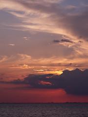 Untitled (nekosaur) Tags: sunset sea sky clouds sweden malm canong11