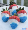 Champagne Soaked Red, White & Blue Chocolate-dipped Strawberries (decorationous) Tags: blue white champagne strawberries chocolatedipped soaked
