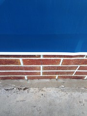 The Wall - v6136 (SouthernBreeze) Tags: city trip travel family blue friends light usa abstract brick art apple wall fun concrete photography town photo al day unitedstates i5 huntsville alabama sidewalk photograph half layer ios hsv thirds iphone 2014 southernbreeze sooc iphoneography