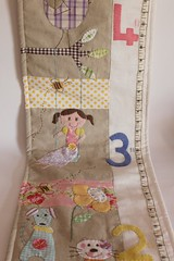 Growth chart Presleigh1 (Roxy Creations) Tags: dog chart flower animal cat princess handmade linen felt growth patchwork applique handembroidered