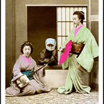 TWO GEISHA AND THEIR NINJA-STYLE BODYGUARD thumbnail
