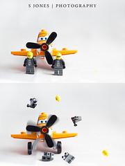Start your engines! (stevenjones596) Tags: cars fun photography lego disney pixar messy planes product strobist