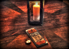 Hitting the Road Early (zendt66) Tags: wood table photo nikon candle map watch theme candlelight lantern weekly challenge hdr pocketwatch d90 photomatix zendt66 52weeks2014
