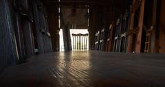 Harley Goat Farm Banquet Hall (ggppix) Tags: farm barn harleygoatfarm banquet specialevents reception redwood wood grain table plank chairs rustic furniture pacific coast pescadero sanmateocounty california fujifilmxpro1 fujinonxf18mmf20r garyglenprice captureonepro